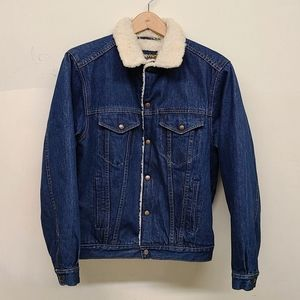 True vintage 1970s Grapevine's denim sherpa jacket
